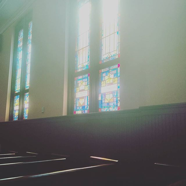 """""""We must accept finite disappointment, but we must never lose infinite hope."""" Gazing out the windows where #MLK Jr and Sr were pastors on a recent trip to #ATL"""